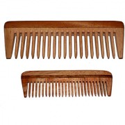 BLITHE NEEM WOOD WIDE TOOTH DETANGLER POCKET COMB (7.5 INCH 4 INCH)