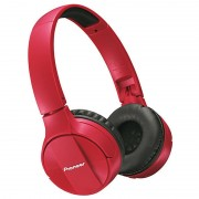 Pioneer SE-MJ553BT Wireless On-ear Headphones with Microphone - Red
