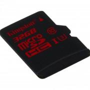 Tarjeta De Memoria Flash Kingston Digital 32GB MicroSDHC UHS-I Clase De Velocidad 3 (SDCA3 / 32GBSP) Negro
