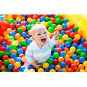 Multi Coloured Pool Balls - Pit Balls - Ocean Balls - Plastic Balls - Genuine Quality - Set of 48 Balls - 8 cm Diameter - Similar Size of Cricket Ball - Pmw