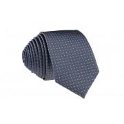 Pánská šedá slim kravata se čtverečky - 6 cm