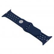 Voor de Apple Watch Sport 42mm holle stijl High-performance Rubber Sport horlogeband met Pin-en-tuck sluiting (donkerblauw)