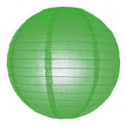 Merkloos Bol lampion groen 25 cm