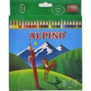 Creioane colorate ALPINO cutie carton 24 culori-set