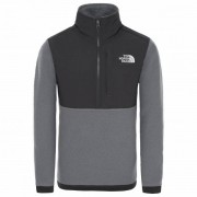 The North Face - Boy's Balanced Rock ¼ Zip Fleece - Pull polaire taille S, gris/noir