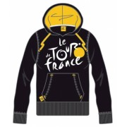 Tour De France Hooded Sweater Heren Logo Zwart Geel Maat M