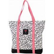 Shopper Candy white allover hearts 38x33x10 cm