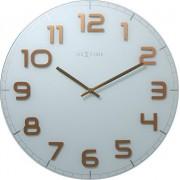 NeXtime Zegar ścienny Classy Large biało-miedziany