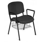 Cadeiras de Escritório Visitante 4 Pés Com Braços e Porta Revistas TURQUIA