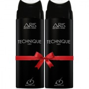 ARIS TECHNIQUE DEODORANT BODY SPRAY FOR MEN 200 ML. (SET OF 2 DEODORANTS)