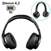 Ksix Go%26Play Reverse Foldable Wireless Headphones / Speaker - Black