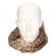 Merkloos Bruin/luipaard fleece ronde col sjaal voor volwassenen