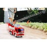 Guantaoxian Chuangyi Trade Co.,Ltd T/A CnDirectBiz Kids' Magic Fire Truck - Flashing Lights & Rotating Ladder!