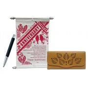 Saugat Traders Anniversary Gift For Couple - Anniversary scroll Card, Women's Wallet & Parker Pen