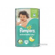 Pampers Active Baby-Dry Pelene 4+ Maxi+ 70 komad