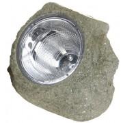 Solarlampe 14x12cm, brauner Stein