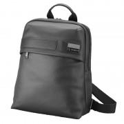 Rucsac documente/laptop, din piele neagra, stampata, PARKER
