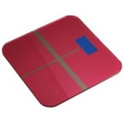 Rorian Personal Body Weight Machine Digital 8mm Toughened Glass Golden/Blue/Red Multi Color SF180 Weighing Scale(Red)