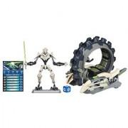 Star Wars Figure and Vehicle Grievous and Mini Wheel Bike