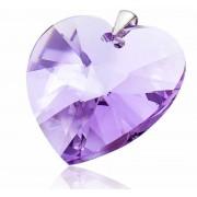 Stříbrný přívěsek Srdce Violet