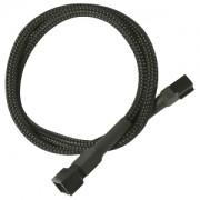 Cablu prelungitor Nanoxia 3-pini Molex, 30cm, black/black