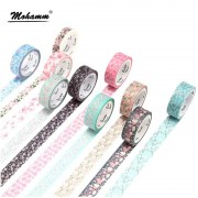 Cute Romantic Cherry Blossoms Decorative Adhesive Tape Washi Tape Masking Tape School Office Supply Sticker Label Stationery