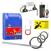 VOSS.farming Set: Extra Power 230V Mains Energiser + Fence Tester + Accessories