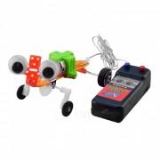 Hecho a mano DIY Creeping Gecko modelo de tecnologia educativa de juguete (2 x AA)