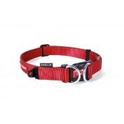 EzyDog Double Up Halsband - Halsband met dubbele ring - Rood - Size: Small
