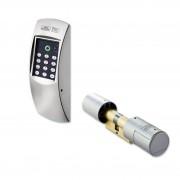 Serrure électronique pour portes, couleur chromé mat - TSE Set 4001 Home MCR