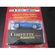 Corvette Roadster (Blue) Matchbox World Class Red Card Series #1 (1989)