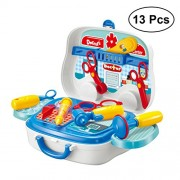YeahiBaby 13PCS Childrens Doctors Kit Kids Pretend Role Play Doctor Medical Set Toys for Kids Girls Boys