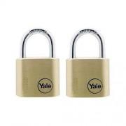 Set 2 lacate de alama cu cheie Yale Y110/30/117/2