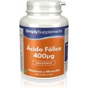 Simply Supplements Ácido Fólico (Vitamina B9) 400mcg - 360 Comprimidos