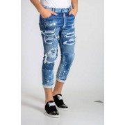 Dsquared2 Jeans Glam Head In Denim Stretch 16 Cm Primavera-Estate Art. 82993