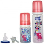 Small Wonder Red Set of 4 BPA Free Pure Plus Red 125ml 250ml PP Bottle Orthodontic LSR Pacifier Shield Re