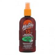 Malibu Bronzing Tanning Oil Argan Oil SPF15 слънцезащитен продукт за тяло 200 ml за жени