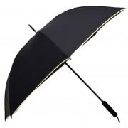 Umbrela Samurai XL ICONIC Automata, Neagra cu margine crem,