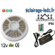 Kit bandeau LED 5m RGB IP65 smd5050 12v