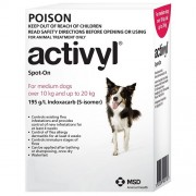 Activyl Spot-on 300mg For Medium Dogs 10-20 kg (23-44 lbs)
