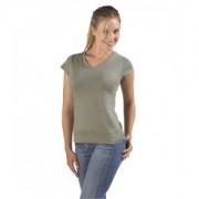 Tee-shirt sexy de couleur, ceintré, col V