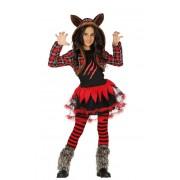 Guirca Disfraz de lobo feroz para niña - Talla 7 a 9 años