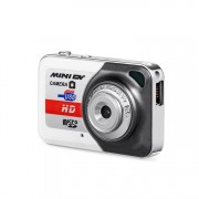 X6 Portable Ultra Mini HD Kids Digital Camera DV Camcorder with Key Ring Support TF Card(Glamour Gray)