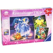 Ravensburger - Disney Princess Puzzle 3 Pack - 49 Pieces Each - Ariel From the Little Mermaid Cinderella Snow White