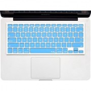 Kuzy - SKY BLUE Keyboard Cover Silicone Skin for MacBook Pro 13 15 17 (with or w/out Retina Display) iMac and MacBook Air 13 - Sky Blue