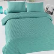 Eponj Home Zelený lehký přehoz přes postel Green Pique, 200 x 240 cm