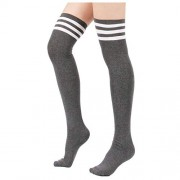 Over The Knee Socks - TOOGOORWomen Stripe Tube Dresses Over The Knee Thigh Hig