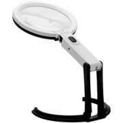 2.5X90mm 8X25mm 10 LED Folding Lamp Magnifier Magnifying Glass - NI51