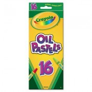 O Crayola O Oil Pastels, Jumbo Sized Stick With Tapered Point, 16/Pack