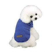 LDKFJH Artículos para Mascotas Ropa para Mascotas Camisa A Rayas De Fondo Chaleco Cachorro Ropa para Perros Camiseta Ropa De Primavera Azul, Gris, Rosa, Rojo, Verde (S XXL)